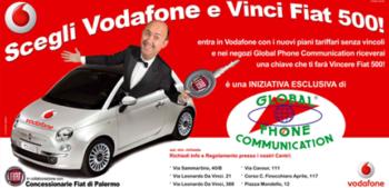 promozione Vodafone, Fiat 500